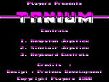 Tanium ZX Spectrum Title Screen