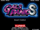 Gals Panic S: Extra Edition Arcade Title screen.