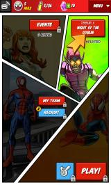 Spider-Man Unlimited Android Main menu