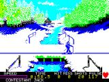 Winter Games ZX Spectrum Biathlon: Skiing