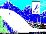 Winter Games ZX Spectrum Ski Jump: Flying through the air