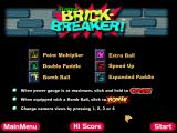 FunPack 3D Windows Super Brick-Breaker - Main Menu