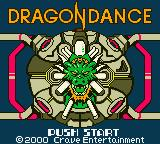 Dragon Dance Game Boy Color Title screen