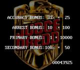 Judge Dredd SNES End of level score