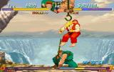 Street Fighter Collection SEGA Saturn SF2 Alpha Gold: Rolento using a Super Move on Ken in survival mode
