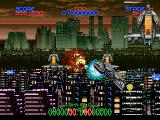 Night Striker SEGA Saturn Now in the sky, enemy on the right is close