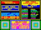 War Cars Construction Set ZX Spectrum Title Screen