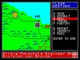 Vulcan: The Tunisian Campaign ZX Spectrum Map of the battlefield