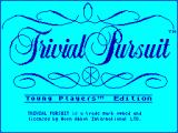 Trivial Pursuit: Young Players Edition ZX Spectrum Loading Screen