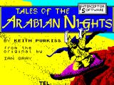 Tales of the Arabian Nights ZX Spectrum Loading Screen