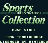 Sports Collection Game Boy Title screen