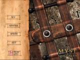 Myst V: End of Ages Macintosh Main menu