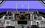 Dan Kitchen's Tomcat: The F-14 Fighter Simulator Atari 7800 Flying over the ocean...