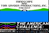 The American Challenge: A Sailing Simulation Apple II Title Screen
