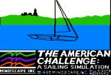 The American Challenge: A Sailing Simulation Apple II Introducing the boat
