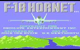 F-18 Hornet Atari 7800 Title screen
