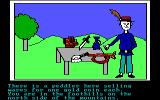 Hi-Res Adventure #2: The Wizard and the Princess PC Booter buy a horn from the peddler (PCjr version)