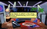 Leisure Suit Larry 5: Passionate Patti Does a Little Undercover Work DOS Patti infiltrates a corporate building. This is the message that displays when you use the Hand icon on yourself as her