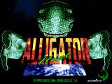 Alligator Hunt Arcade Title screen, reptile aliens are taking over the world..