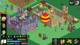 The Simpsons: Tapped Out Android The Clash of Clones castles with some decorations.