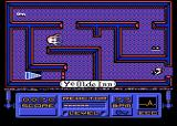 Phantom Atari 8-bit Level 1 Room 4 energy power up,  giant tentacle and next level stairs