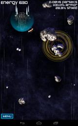 Project Trinity Android The player uses a gravity well to pull a massive asteroid out of the path of an incoming Bristol class cargo ship.