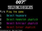 James Bond 007 in The Living Daylights: The Computer Game ZX Spectrum Title Screen