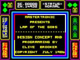 Lap of the Gods ZX Spectrum Title Screen