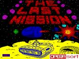 The Last Mission ZX Spectrum Loading Screen