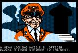 Lucifer's Realm Apple II Nazi officer Adolph Eichmann blocks your way