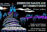 Dark Designs III: Retribution! Apple II Title screen
