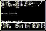 Dark Designs IV: Passage to Oblivion Apple II Character creation