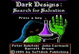 Dark Designs V: Search for Salvation Apple II Title screen