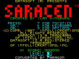 Saracen ZX Spectrum Title Screen