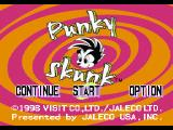 Punky Skunk PlayStation Main menu