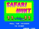 Safari Hunt SEGA Master System Title
