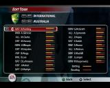 Cricket 2005 PlayStation 2 In the My Cricket sub menu is an option to edit the teams and another to change the player numbers