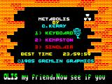 Metabolis ZX Spectrum Title Screen