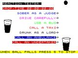 Rainy Day ZX Spectrum Reaction Tester: Wait for the ball to drop