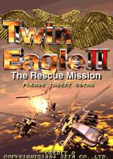 Twin Eagle II: The Rescue Mission Arcade Title Screen