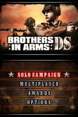 Brothers in Arms DS Nintendo DS Main menu.
