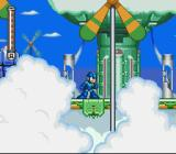 Mega Man 7 SNES Up in the clouds