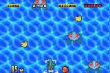 Fruits Daisakusen! Game Boy Advance Swimming to collect fruit.