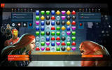 Marvel Puzzle Quest Windows A match against Juggernaut. He only does special attacks with red or green gems, so those are the ones you need to clear quickly.