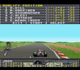 F1 Pole Position 2 SNES Trying to get a good position on the grid