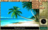 """Maupiti Island DOS Nice tropical atmosphere. Opening the """"self"""" menu"""