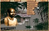 Maupiti Island DOS Another dialogue - this time displaying the other available actions from a menu
