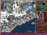 "Heroes of Might and Magic III: The Shadow of Death Windows Another shot of the land your heroes traverse in search of adventure- notice the new ""sky"" tileset in the upper right corner."