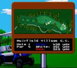 Jack Nicklaus' Unlimited Golf & Course Design SNES The first hole