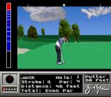 Jack Nicklaus' Unlimited Golf & Course Design SNES Attempting a putt